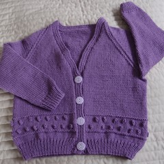 SIZE 6 (+) yrs  - Hand knitted cardigan  by CuddleCorner, girl
