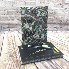 Kookaburras  Fabric Notebook Cover