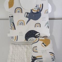 Baby bib, and burp cloth set, baby gift