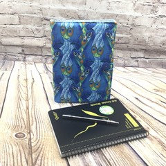 Peacocks Fabric Notebook Cover