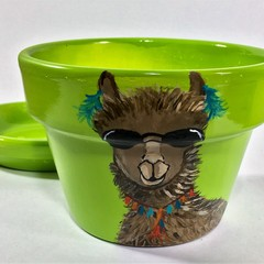 Llama pot - green only available