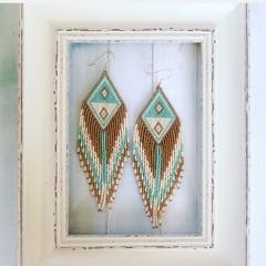 Handmade 12cm long drop earrings