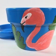 Plant pots - Flamingo Pots - blue only available