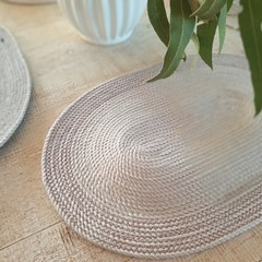 Rope coiled table placemats