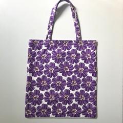 Purple flowers shopping bag