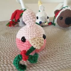 Crochet Christmas Galah Bauble