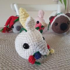 Crochet Christmas Cockatoo Bauble