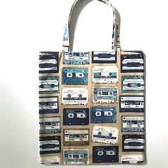 Retro cassettes shopping bag