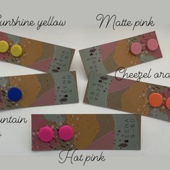 Polymer clay color pop studs