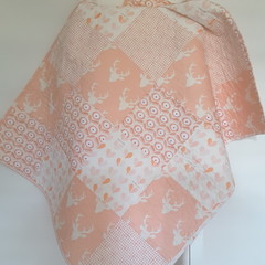 Baby quilts/pink/blush/peach