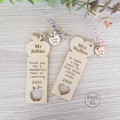 Personalised Bookmark - Perfect Teacher Gift