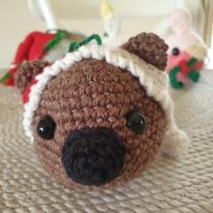 Crochet Christmas Wombat Bauble