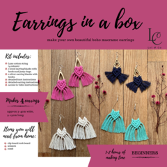 DIY Macrame Earrings Kits - PINK KIT