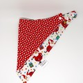 Twin Pack - Christmas Bandana Dribble Bib - Reversible & Water Resistant