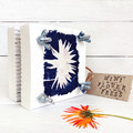 Mini Flower Press, decorated with original calendula flower cyanotype art