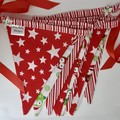 "Christmas Fabric Bunting Christmas Owls ""FREE POST"""