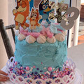 Bluey Dance Edible Icing Cake Topper Set PRE CUT #738