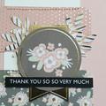Thank You So Very Much Handmade Card