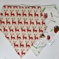 Twin Pack - Christmas Bandana Dribble Bib - Reversible & Water Resistant