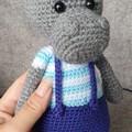"""Harry"", Crochet Hyppo Softie, Hyppo Amigurumi, Hyppo Toy"