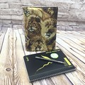 Lions Fabric Notebook Cover