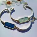 Dainty Silver Rectangular Bracelet