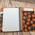 Basketballs  Fabric Notebook Cover