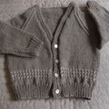 SIZE 2-3 years; knitted cardigan,  boy, washable