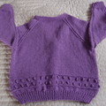 SIZE 6 (+) yrs  - Hand knitted cardigan  by CuddleCorner, girl