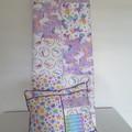 Cot quilt and cushion,  baby quilt, unicorn quilt/nursery decor/unicorn