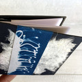 Handmade Notebook with handmade paper and cyanotype artwork on the front