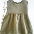 Girls Linen Dress.  Sizes 6m - 4yrs