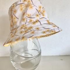Girls summer hat in sweet wattle fabric