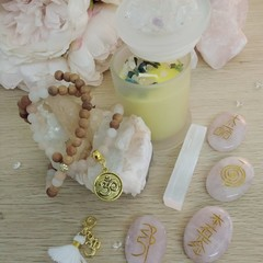 Pink Aventurine & Wood Mala Bracelet