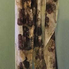 Eco dyed silk scarf.