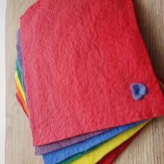 Hand Crafted Organic Rainbow Felt Set