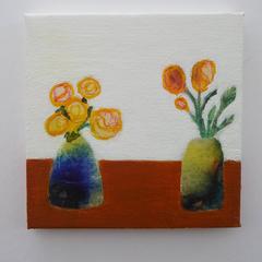 Small Original Artwork of Flowers Ready to Ship