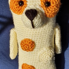 """Max"", Handmade Crochet Long Body Puppy Softie, Puppy Amigurumi"