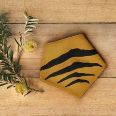 Small - Tasmanian Tiger Pet Bandana - Mustard