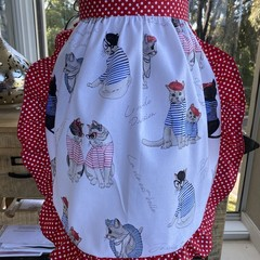 French Kitty Frilly Apron