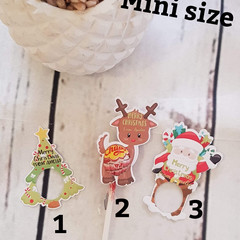 Christmas Lollipop Holders | Lollipop cut outs MINI - 12pk - PERFECT CLASS GIFT