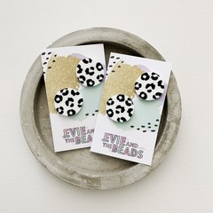 Animal Print Statement Studs