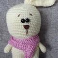 """Emma"", Crochet Bunny Lady, Bunny Amigurumi, Bunny Softie"