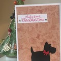 Christmas Handmade Card - Scotty dog