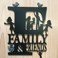 """Family & Friends"" woodcut"