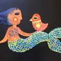 """Mermaid"" woodcut"