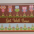 Greeting Card - Get Well Soon 'Owls and Frogs'