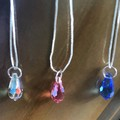 Children's Silver 'Frozen' inspired Swarovski® Crystal Pendant Necklace