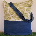 Recycled Tote Leaf