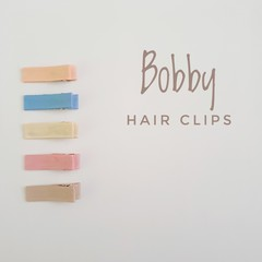 BOBBY | neutral lined hair clips | snap clips, toddler clips, baby hair clips